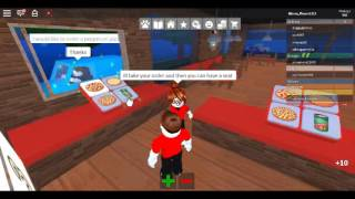 My First Roblox Video On Work At A Pizza Place