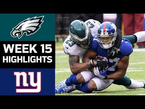 Eagles vs. Giants   NFL Week 15 Game Highlights
