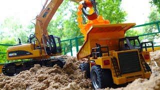 Видео для детей про строительную технику. Игры гонки и Вспыш