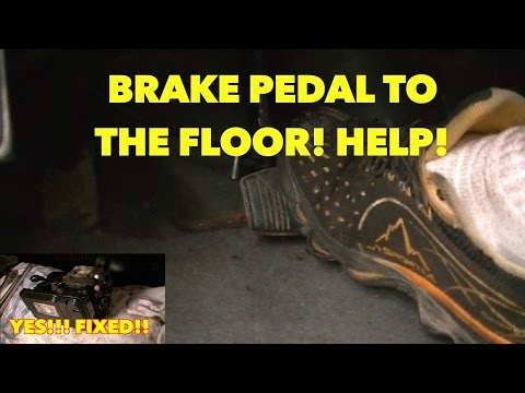 Sinking/Spongy Brake Pedal -With ABS SYSTEM?? Nothing Works? Watch Fixed!