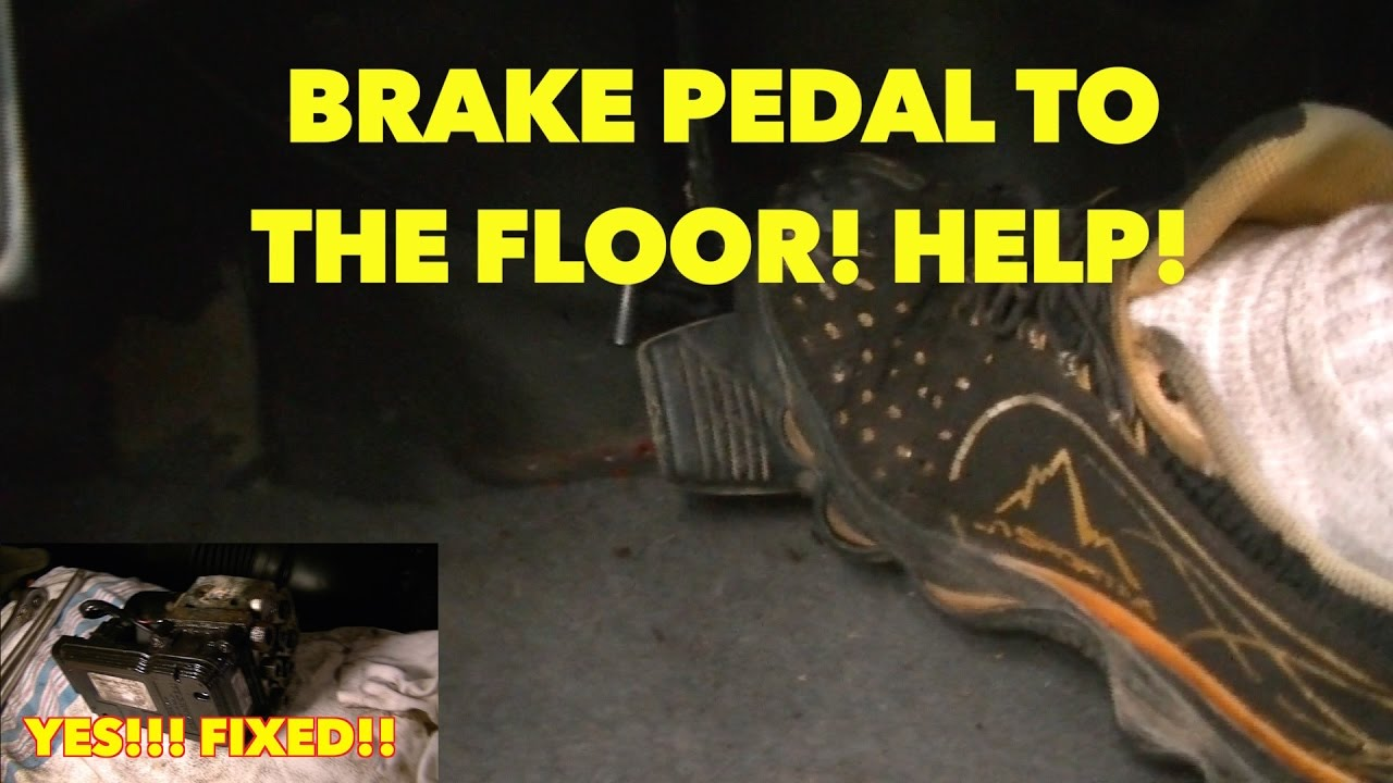 hight resolution of sinking spongy brake pedal with abs system nothing works watch fixed