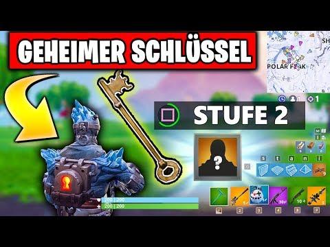 GEHEIMER Schlüssel 😱 Schneefall Stufe 2 🎁 Stil freischalten | Fortnite Season 7 Woche 9 Deutsch