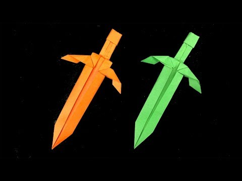 Easy Origami Paper Sword - How to Make Sword Step by Step