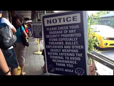 Crazy security warning signs at Manila Airport