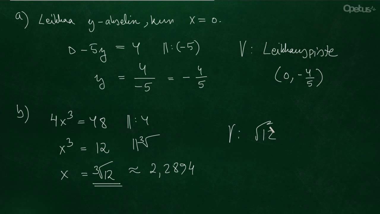 Matematiikka Yo