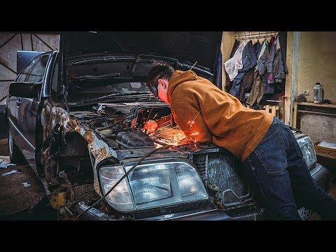 Мерседес W140 попал в кривые руки