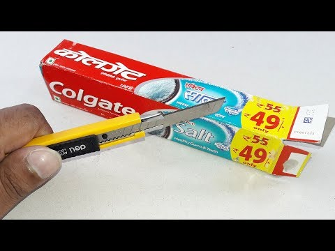 Waste materials craft idea | empty colgate packet | DIY arts and crafts | Amazing life Hack