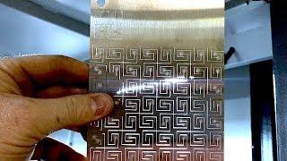 Laser Cutting Stainless Steel Living Hinge Patterns