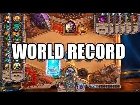 [World Record] 24 Different Hero Powers In 1 Turn - Hearthstone