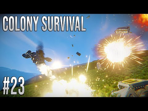 Space Engineers - Colony Survival Ep #23 - STEALING THE GUNS