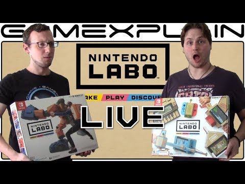 Nintendo Labo LIVESTREAM - Building Variety + Robot Kit Toy-Cons!