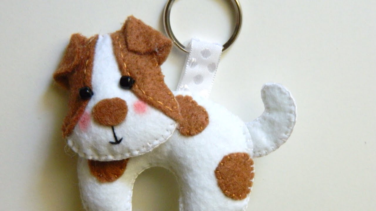 How to make a precious felt dog keychain diy style tutorial how to make a precious felt dog keychain diy style tutorial guidecentral youtube maxwellsz