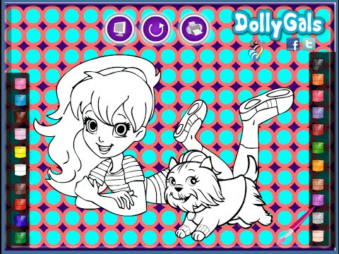 polly pocket coloring pages games - photo#32