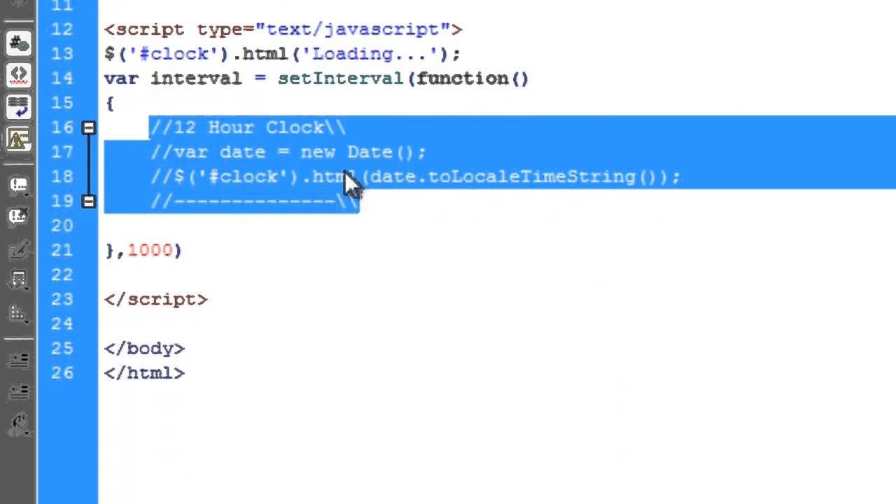 JavaScript: Digital Clock