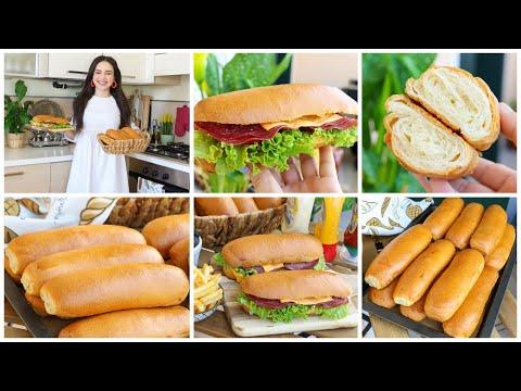 Download خبز فنكوش بدون بيض كبير الحجم خفيف كالقطن بمكونات متوفرة بكل بيت للسندويتشات المالحة والحلوة❤️