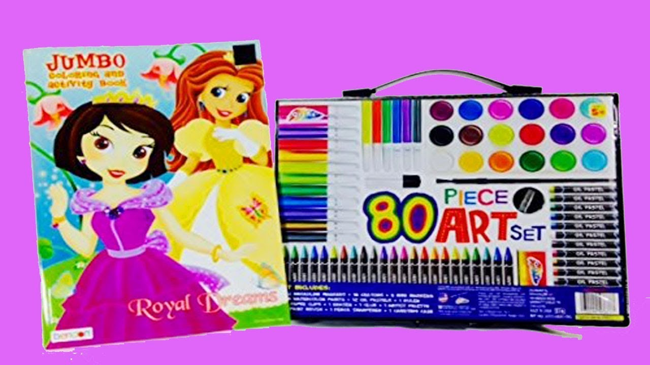 Coloring sets for kids with art book,pen,glitter,pencils,drawing painting  equipment for kids S9