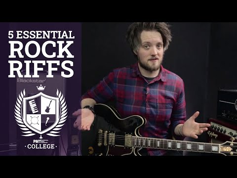 5 Easy & Fun Rock Guitar Riffs For Beginners Inc Seven Nation Army, Smoke On The Water | PMT College