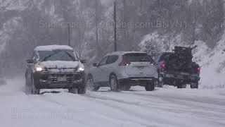 Colorado Springs, CO Cars Slide In Snow On Veterans Day - 11/11/2018