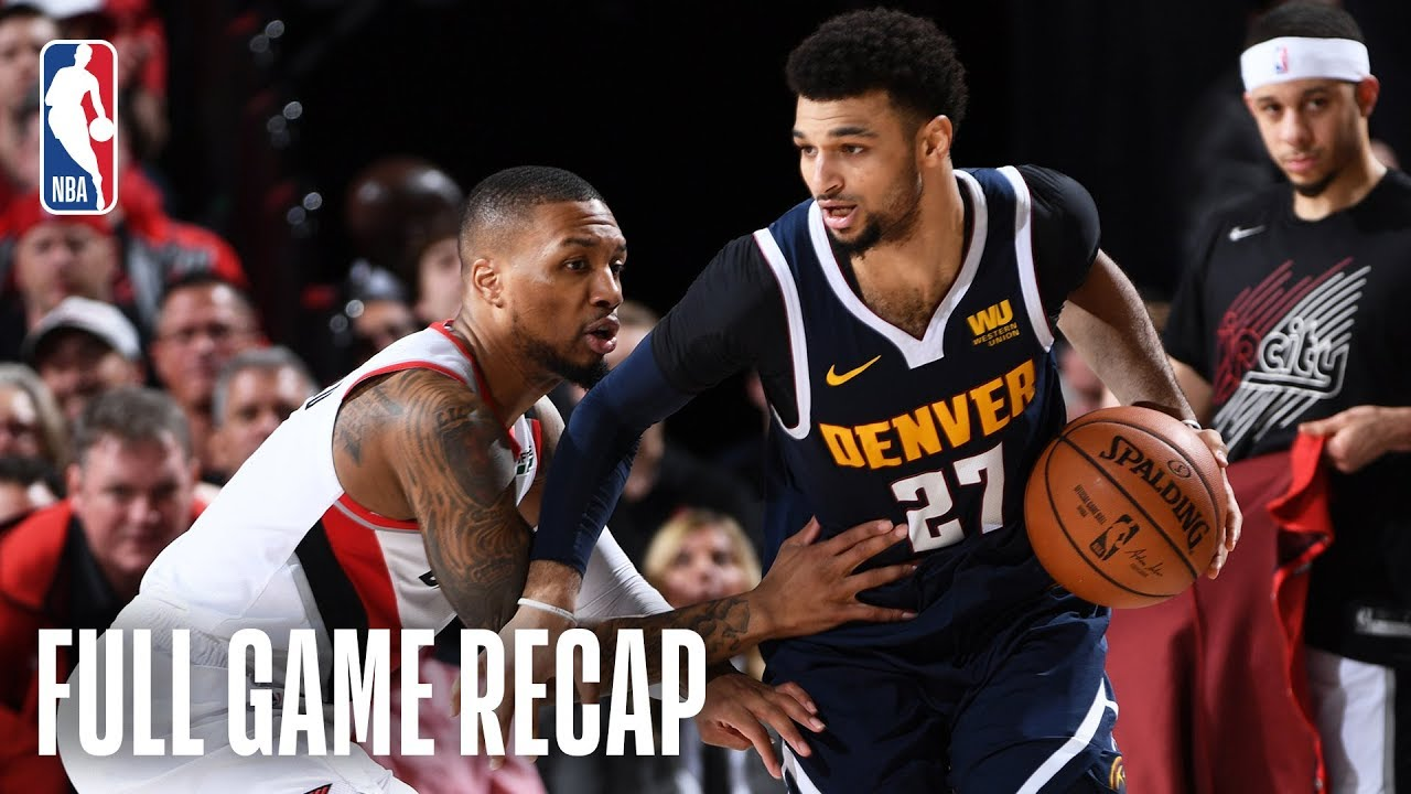 NUGGETS vs TRAIL BLAZERS   Another Close Finish in