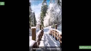 Обзор - Зимние Пейзажи Живые Обои - для Андроид
