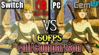 [Switch Vs Cemu] The Legend of Zelda: Breath of the Wild (60FPS) (Full Comparison) (PC vs Console)