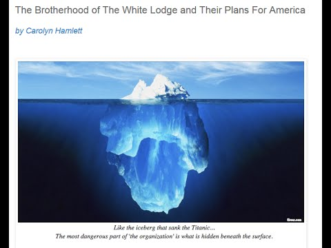 Pt 1: The Brotherhood of The White Lodge and Their Plans For America ~ Carolyn Hamlett
