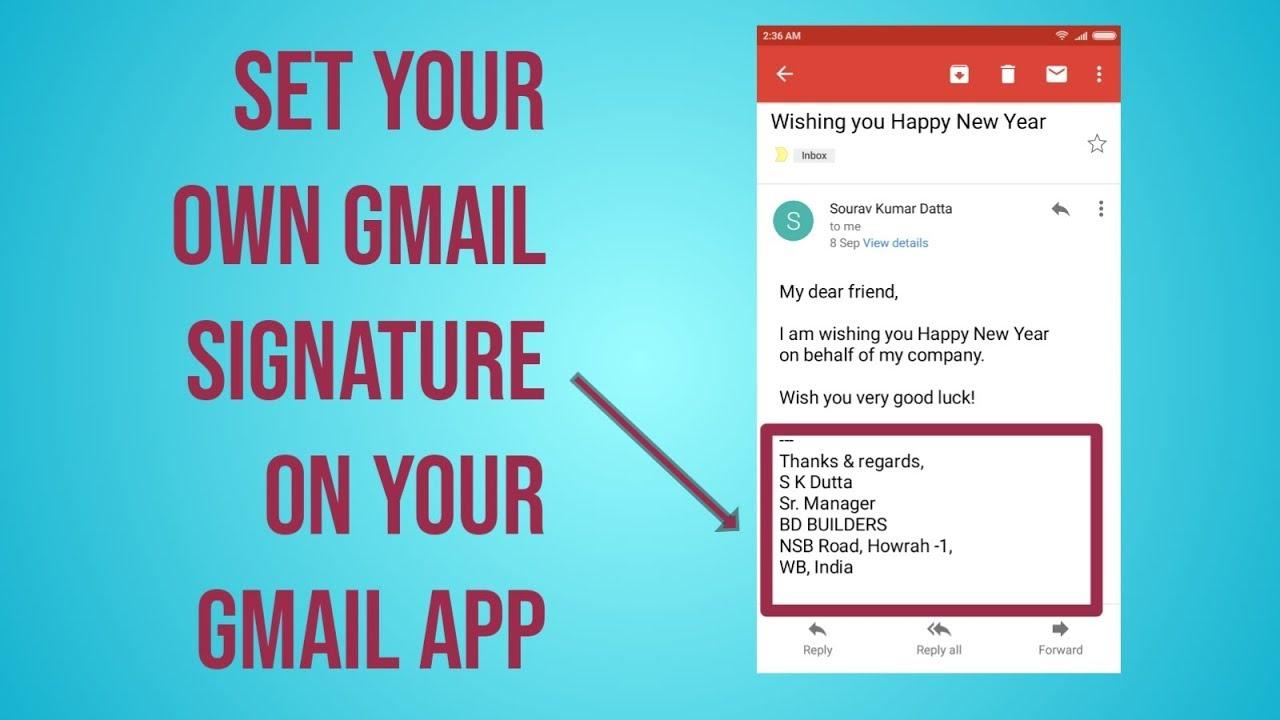auto signature gmail