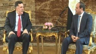 السيسي يؤكد دعم مصر للمجلس الرئاسي الليبي وضرورة رفع الحظر على السلاح
