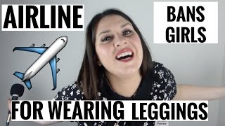 United Airlines ban girls for wearing leggings