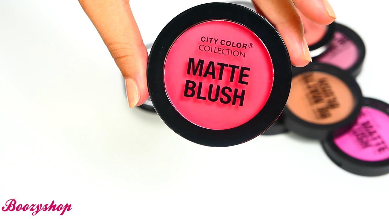 City Color Matte Blush Deep Coral Swatch | Boozyshop