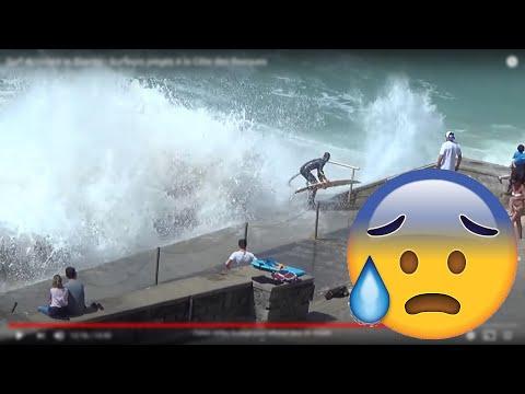 Surf Accident in Biarritz - Surfeurs piégés à la Côte des Basques