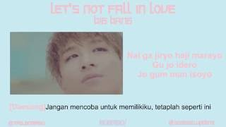 Easy Lyric BIGBANG - LET'S NOT FALL IN LOVE By GOMAWO [Indo Sub]