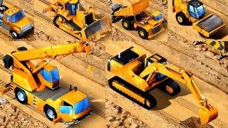 เรียนรู้รถก่อสร้างสำหรับเด็ก รถแม็คโคร รถดั้ม รถตักดิน รถเกรดดิน Kids Construction Vehicles App for