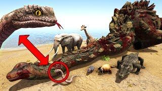 💀THIS SNAKE KILLS A TITAN IN 2 HITS! Elephant,Hippo &More! Additional Creatures Ark Survival Evolved thumbnail