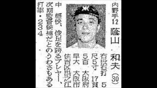 1957年 南海ホークス 選手名鑑