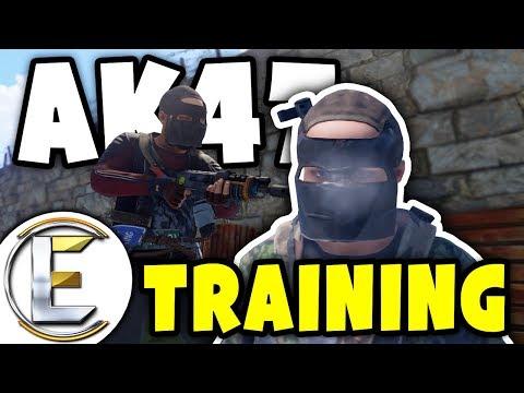 INTENSE AK-47 TRAINING | Rust - Random guy start teaching me (Combat tag)