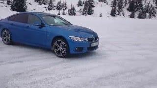 BMW 428i GranCoupe xDrive snow drift