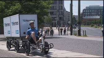 Hermes testet Paketzustellung per Lastenrad in Berlin (Teil 1/4)