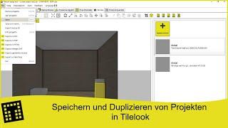 Speichern und Duplizieren von Projekten in Tilelook