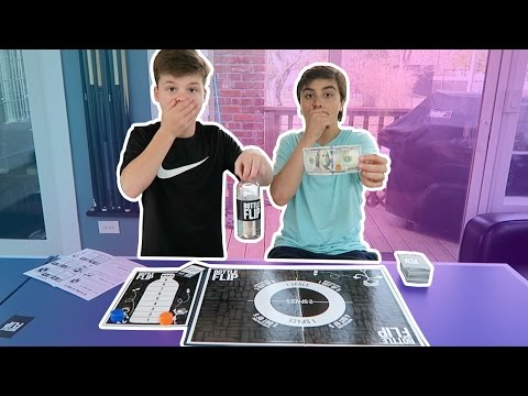 BOTTLE FLIP BOARD GAME FOR MONEY!! *100 DOLLARS*