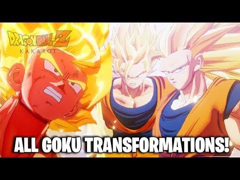 Dragon Ball Z Kakarot - All Super Saiyan Goku Transformations (DBZ Kakarot All Goku Transformations)