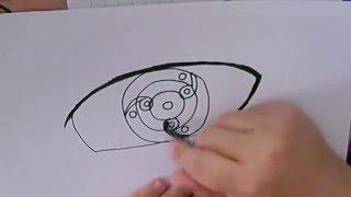 How to draw Fugaku Uchiha´s Mangekyō Sharingan 万華鏡写輪眼