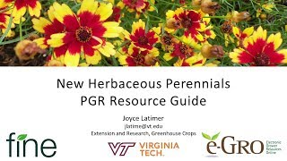 New Herbaceous Perennials PGR Resource Guide