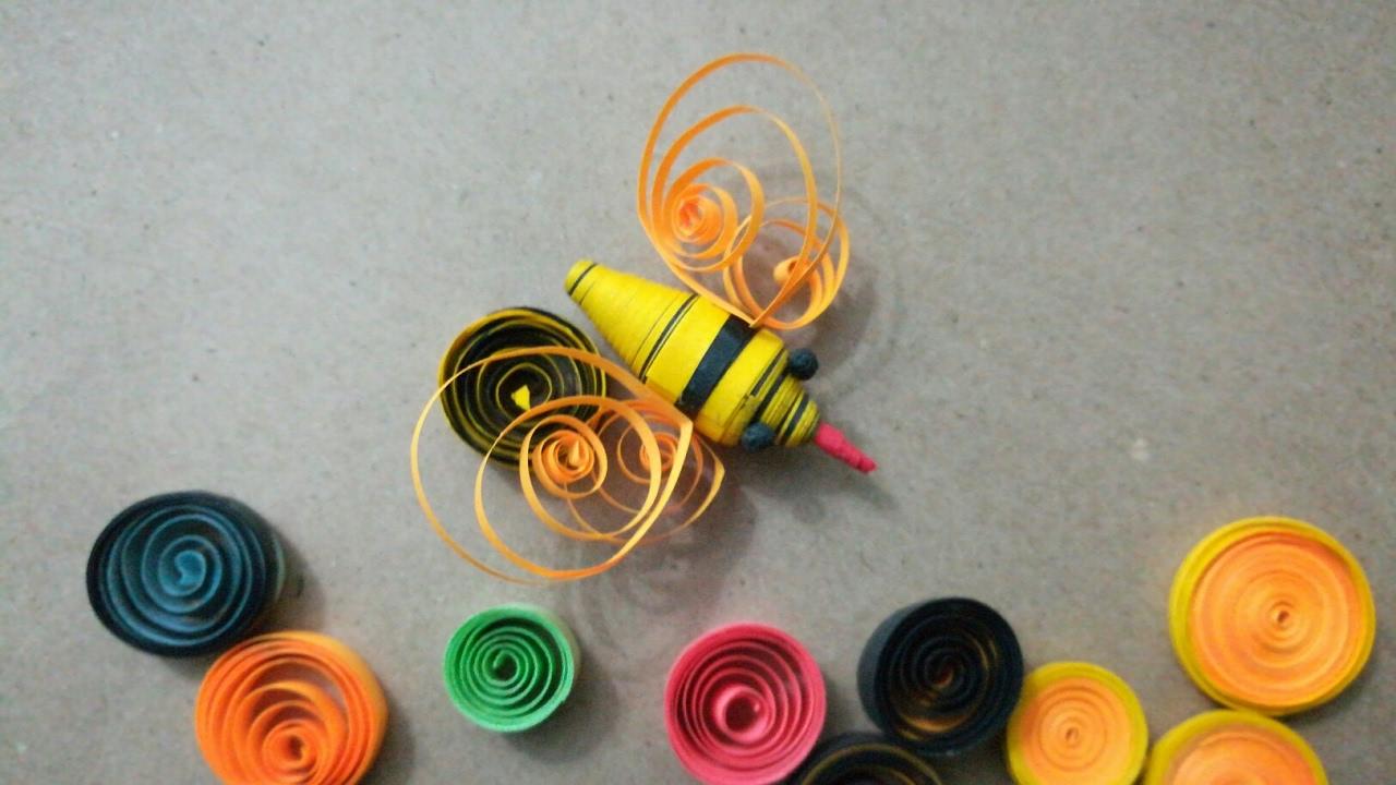 Diy Paper Quilling Honey Bee