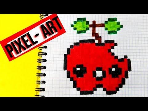 How To Draw An Apple Como Dibujar Una Manzana Kawaii Pixel Art