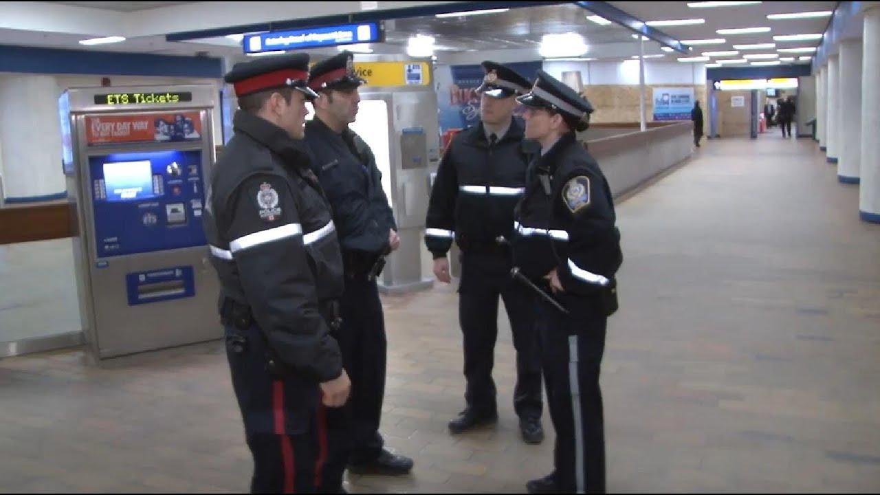 Ets Street Team On The Job Ets Transit Peace Officer Youtube