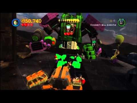 Let's Play Lego Batman 2 DC Super Heroes Wii Part 28: Joker Robot and Wayne Tower