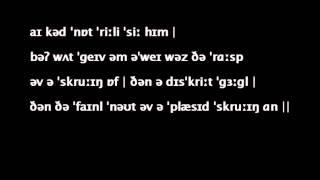 Phonemic transcription: You lie, she