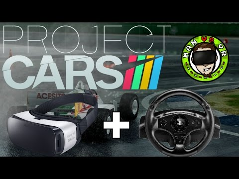 Gear VR + Vridge + Steering Wheel + Project Cars = Awesome!! | Steam VR On Gear VR Gameplay