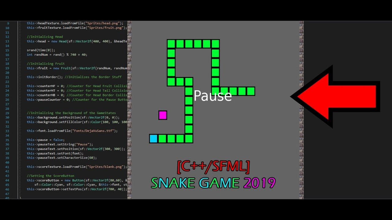 C Sfml Snake Game 2019 Gui System Open Source Must See Youtube